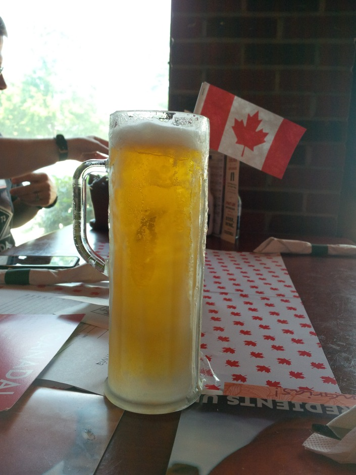 Frosty mug of Labbatt beer