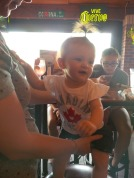 Baby wearing cute Canada shirt